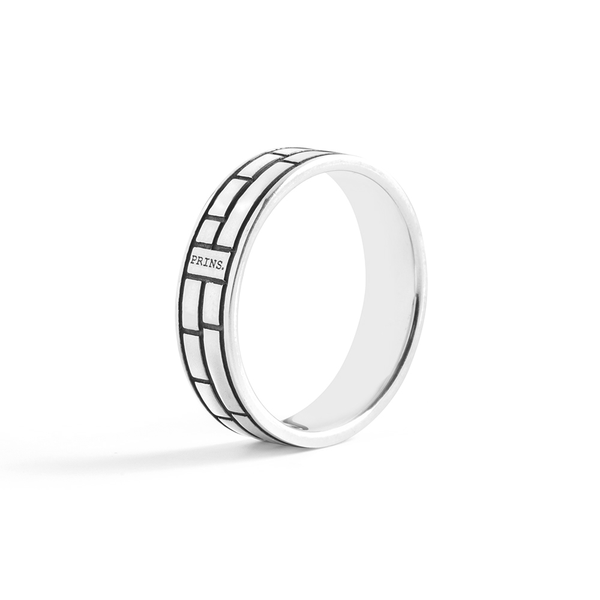 The Brick- zilveren band ring #2