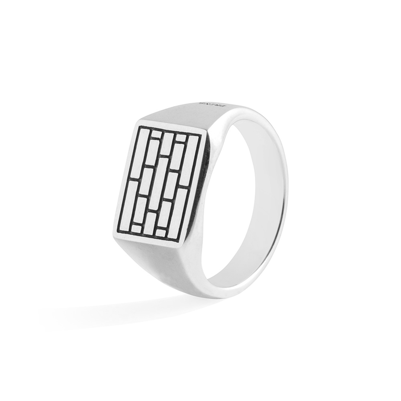 The Brick - Mini zegelring zilver