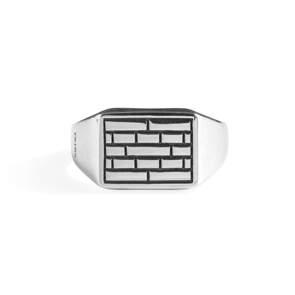 The Brick Signet Ring Small