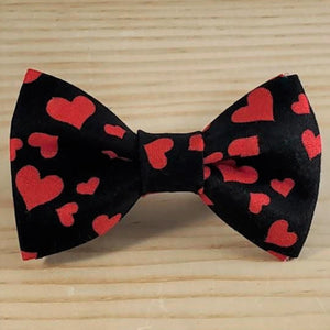 Valentine's Day Black with Red Hearts