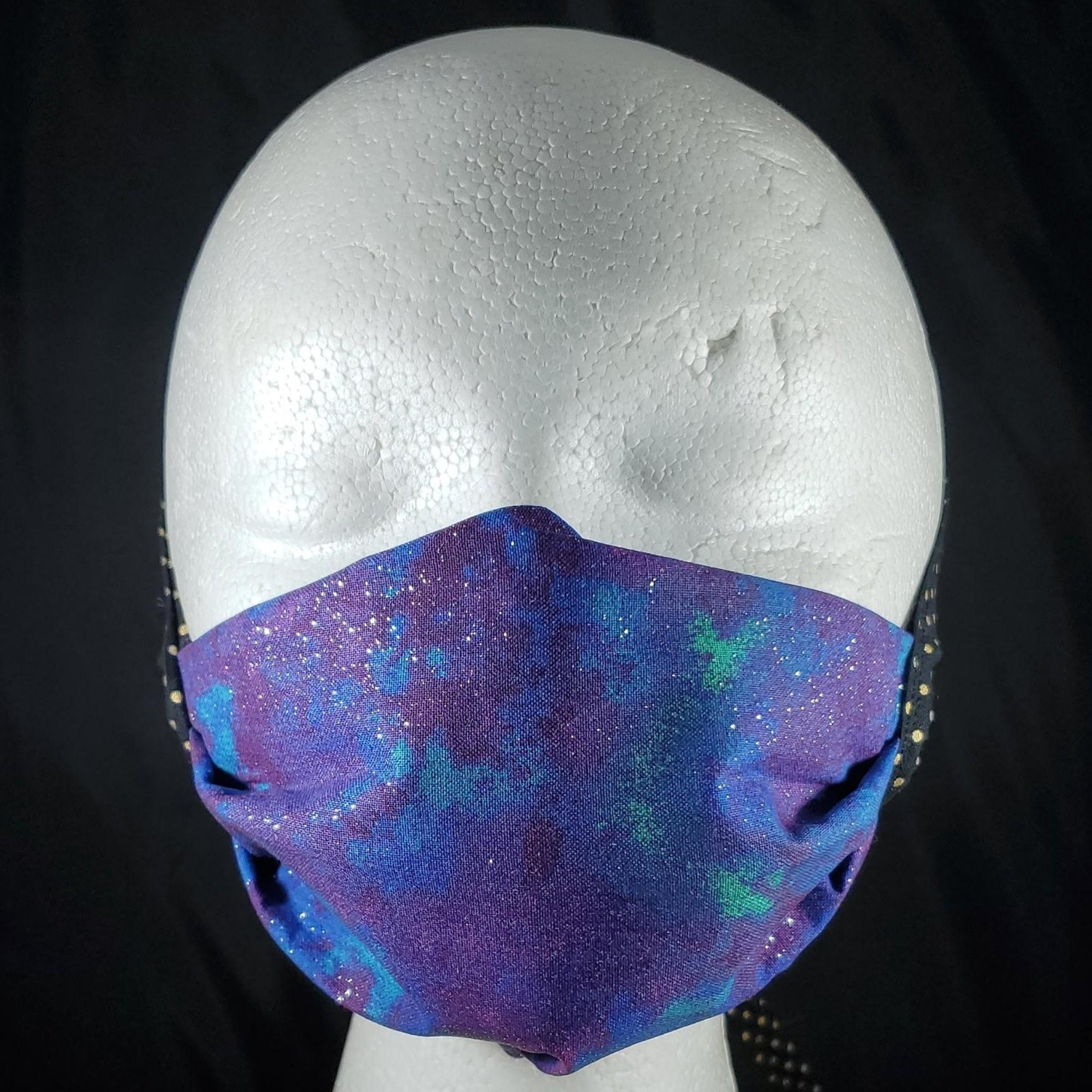 Galaxy Glitter Cotton Face Mask