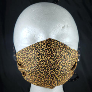 Leopard Print Cotton Face Mask