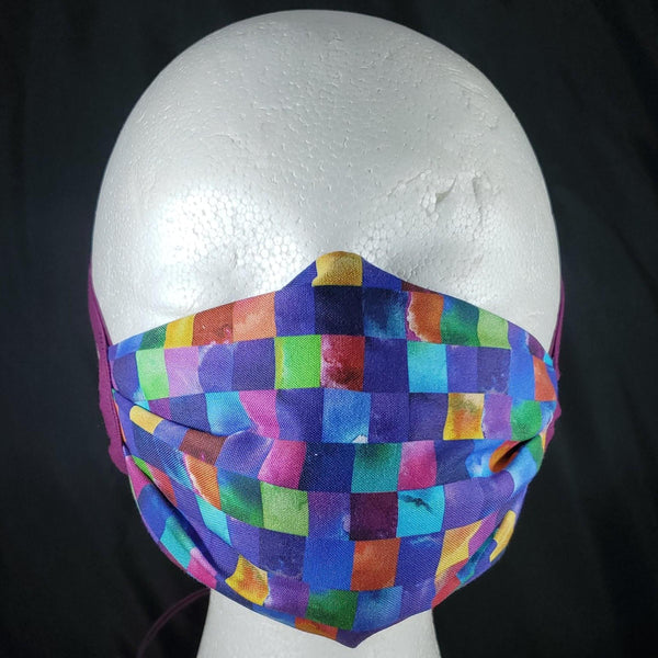 Purple Rainbow Face Mask