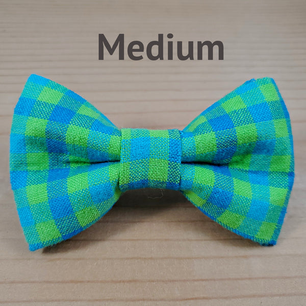 Blue and  Lime Green Gingham