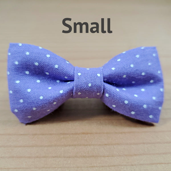 Lavender with White Polka Dots