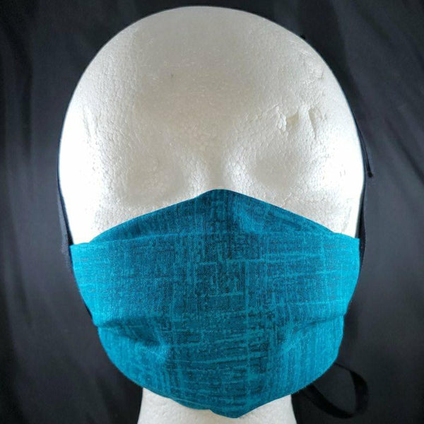 Teal Textured Face Mask