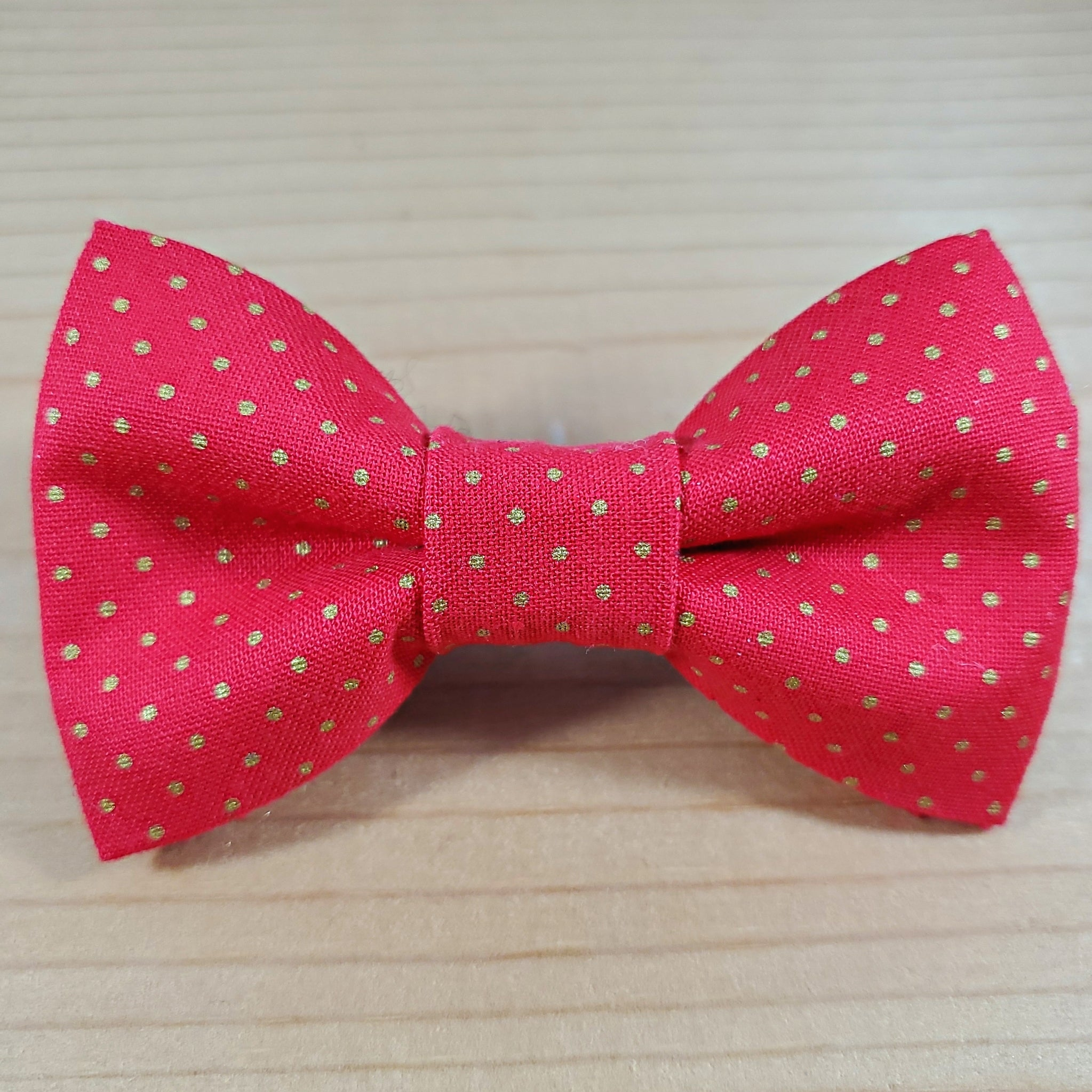 Red with Gold Polka Dots