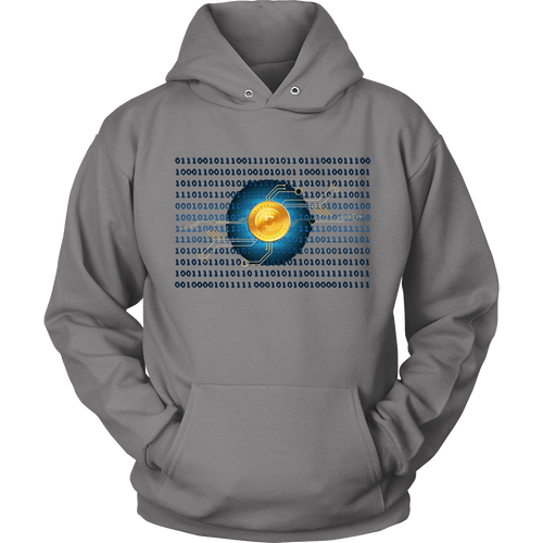 Bitcoin Binary Heart Hoodie-Fashion For Crypto