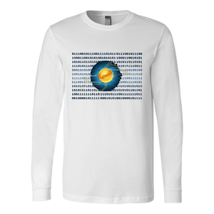 Bitcoin Binary Heart Long Sleeve Shirt-Fashion For Crypto