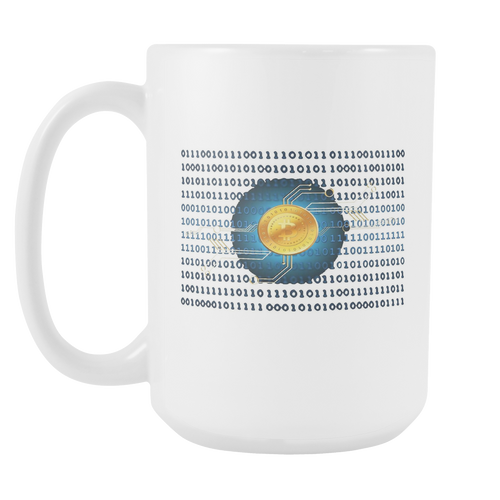 Bitcoin Binary Heart Tall Mug-Fashion For Crypto