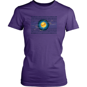 Bitcoin Binary Heart Womens Shirt-Fashion For Crypto