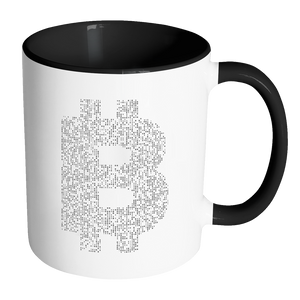 Bitcoin Binary Logo Accent Mug-Fashion For Crypto