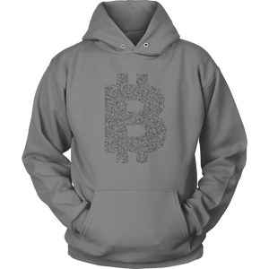Bitcoin Binary Logo Hoodie-Fashion For Crypto
