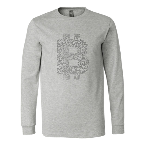 Bitcoin Binary Logo Long Sleeve Shirt-Fashion For Crypto