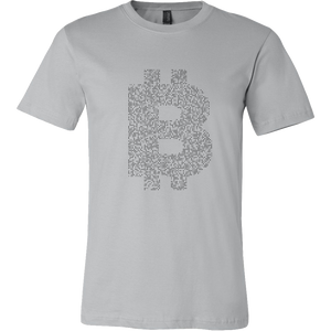 Bitcoin Binary Logo Short Sleeve Shirt-Fashion For Crypto