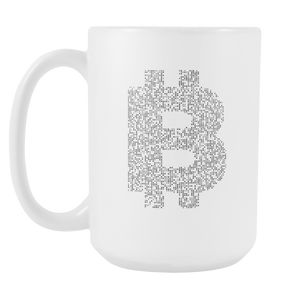 Bitcoin Binary Logo Tall Mug-Fashion For Crypto