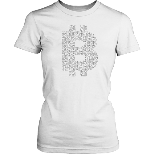Bitcoin Binary Logo Womens Shirt-Fashion For Crypto
