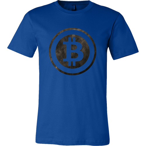 Bitcoin Black and White Logo Short Sleeve Shirt-Fashion For Crypto