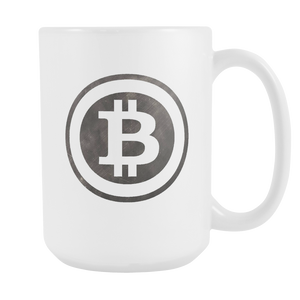 Bitcoin Black and White Logo Tall Mug-Fashion For Crypto
