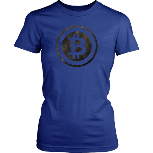 Bitcoin Black and White Logo Womens Shirt-Fashion For Crypto
