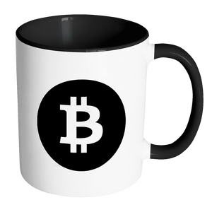 Bitcoin Black Circle Accent Mug-Fashion For Crypto