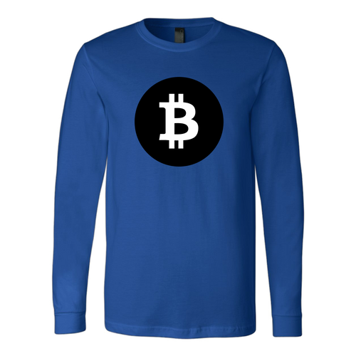 Bitcoin Black Circle Long Sleeve Shirt-Fashion For Crypto