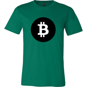 Bitcoin Black Circle Short Sleeve Shirt-Fashion For Crypto