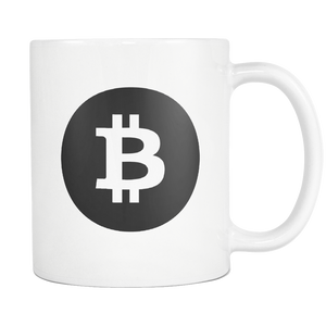Bitcoin Black Circle White Mug-Fashion For Crypto