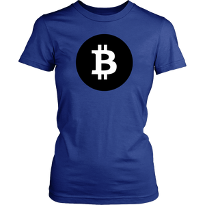 Bitcoin Black Circle Womens Shirt-Fashion For Crypto