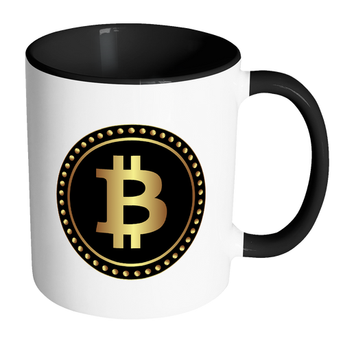 Bitcoin Black Ring Accent Mug-Fashion For Crypto
