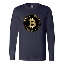 Bitcoin Black Ring Long Sleeve Shirt-Fashion For Crypto