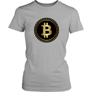 Bitcoin Black Ring Womens Shirt-Fashion For Crypto