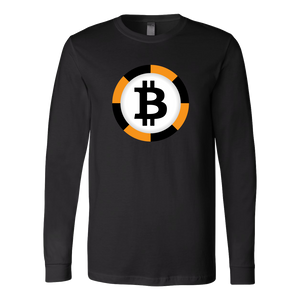 Bitcoin Chip Long Sleeve Shirt-Fashion For Crypto