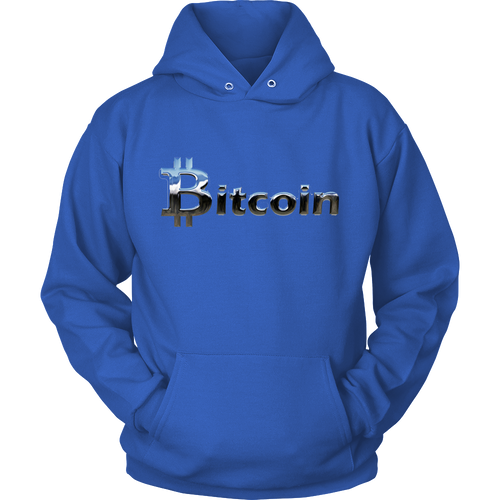 Bitcoin Chrome Logo Hoodie-Fashion For Crypto