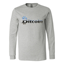 Bitcoin Chrome Logo Long Sleeve Shirt-Fashion For Crypto