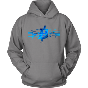 Bitcoin Circuit Logo Hoodie-Fashion For Crypto