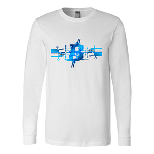 Bitcoin Circuit Logo Long Sleeve Shirt-Fashion For Crypto