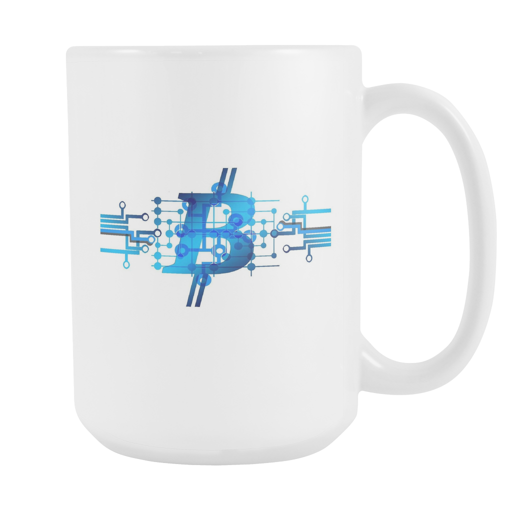 Bitcoin Circuit Logo Tall Mug-Fashion For Crypto