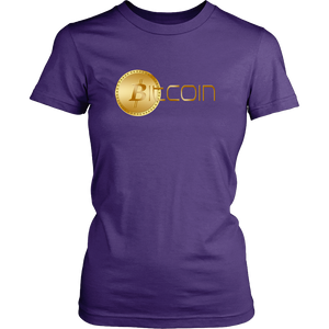 Bitcoin Coin Logo Womens Shirt-Fashion For Crypto