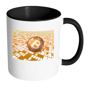 Bitcoin Floating Ball Accent Mug-Fashion For Crypto