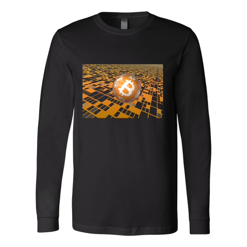 Bitcoin Floating Ball Long Sleeve Shirt-Fashion For Crypto