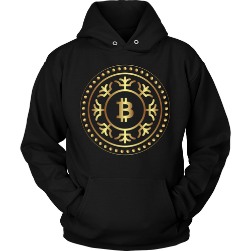 Bitcoin Fractal Ring Hoodie-Fashion For Crypto