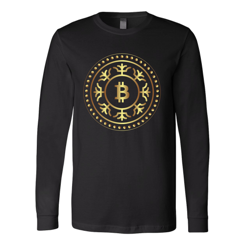 Bitcoin Fractal Ring Long Sleeve Shirt-Fashion For Crypto