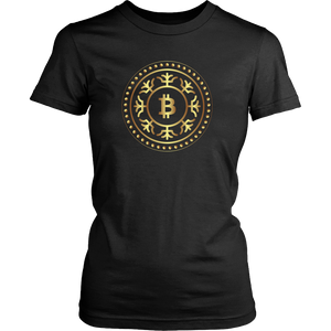 Bitcoin Fractal Ring Womens Shirt-Fashion For Crypto