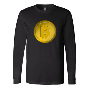 Bitcoin Gold Coin Long Sleeve Shirt-Fashion For Crypto