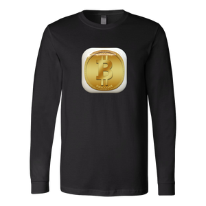 Bitcoin Gold Plate Long Sleeve Shirt-Fashion For Crypto