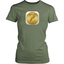Bitcoin Gold Plate Womens Shirt-Fashion For Crypto