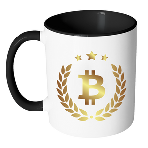 Bitcoin Halo Accent Mug-Fashion For Crypto