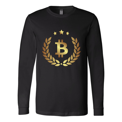 Bitcoin Halo Long Sleeve Shirt-Fashion For Crypto