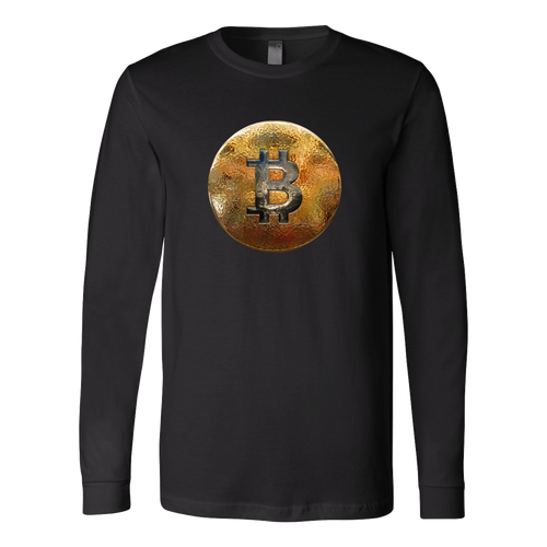 Bitcoin Hammered Coin Long Sleeve Shirt-Fashion For Crypto